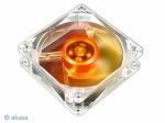 Akasa Ultra Quiet Amber Ventilator AK-182-L2B 80mm