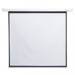 4world Electric ceiling projection screen with remote control 152X152 1: