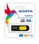 Adata DashDrive UV128 32GB USB3.0 Black-Yellow