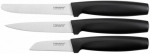 Fiskars Set of 3 black knives FF 1014274