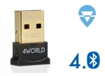 4world Bluetooth 4.0 USB Adapter EDR Class 1 80m