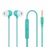 Acme europe HE21B Earphones with mic. in-ear, blue