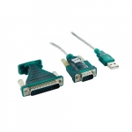 4world Adapter USB 2.0 for RS 232 DB9M DB25M - OEM