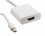 4world Adapter mini DisplayPort [M] > HDMI [F], white