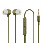 Acme europe Earphones with mic., in ear, khaki HE21K