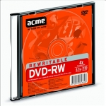 Acme DVD-RW disks 4,7GB 4X Slim kastītē