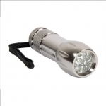 Camelion CT-4004 Aluminium 9-LED torche + 3 x AAA batteries, carrying loo