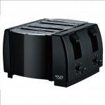 Adler Toaster AD 3211 Black, Plastic, 1300 W, Number of slots 4,