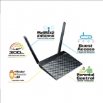 Asus RT-N12E Wireless-N300 Router 300Mbps 2 x External 5 dBi antennas Asu