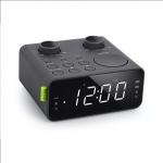 Muse Clock radio PLL M-17CR Black, AUX in