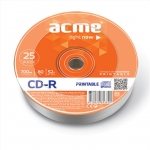 Acme CD-R Printable 0.7 GB, 52 x, 25 Pieces Shrink