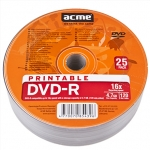 Acme DVD-R Printable 4.7 GB, 16 x, DVD-R, 25 Pack Shrink