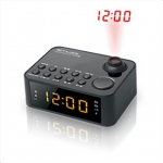 Muse Clock radio  M-178P Black, 0.9 inch amber LED, with dimmer