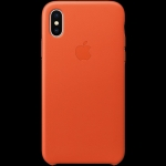 Apple iPhone X Leather Case - Bright Orange