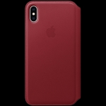 Apple iPhone XS Max Leather Folio - (PRODUCT)RED, Model