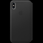 Apple iPhone XS Max Leather Folio - Black, Model