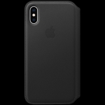 Apple iPhone XS Leather Folio - Black, Model