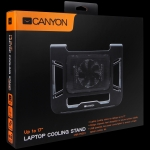 Canyon Laptop Cooling Stand for laptop up to 17', black, cable length 0.6