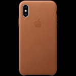 Apple iPhone XS Leather Case - Saddle Brown, Model