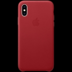 Apple iPhone XS Leather Case - (PRODUCT)RED, Model