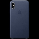 Apple iPhone XS Leather Case - Midnight Blue, Model