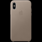 Apple iPhone XS Leather Case - Taupe, Model