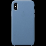 Apple iPhone XS Leather Case - Cornflower