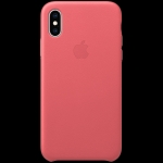 Apple iPhone XS Leather Case - Peony Pink, Model