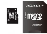 A-data ADATA Micro SDHC karta 32GB Class 4 + SD adaptér