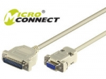 Microconnect RS232 Adapter cable, 2m, Beige