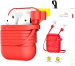 Baseus Baseus etui 2w1 pasek strap do Apple Airpods case Red uniwersalny