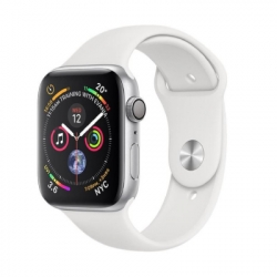 Apple iWatch Series4 GPS, 44mm Silver Aluminium Case with White Sport Ban