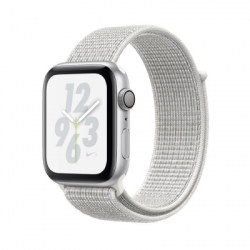 Apple iWatch Nike+ Series4 GPS, 40mm Silver Aluminium Case with Summit Wh