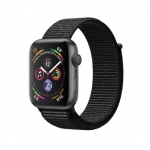 Apple iWatch Series4 GPS, 44mm Space Grey Aluminium Case with Black Sport