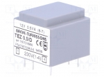 Breve tufvassons TEZ0.5/D230/12V / Transformer: encapsulated; 0.5VA; 230V