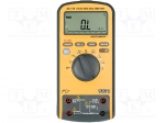Axiomet AX-176 / Digital multimeter; LCD (6600); 3x/s; Temp: -55÷1000°C