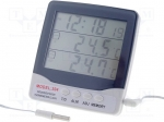 Temperature meter; Accur: ±1°C; Ext.temp.measur.range: -20÷40°C