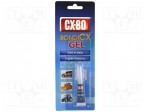 Cx-80 BONDICX-GEL 3G / Cyanoacrylate adhesive; gel; tube; 3g