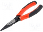 Bahco 2430 G-160IP / Pliers; straight, half-rounded nose, elongated; B:49