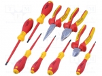 Weidmuller 1180310000 / Set: pliers and screwdrivers; Pcs:9; insulated; i