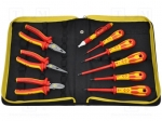 Carl kammerling T5954 / Set: pliers and screwdrivers; Pcs:9; Package: bag