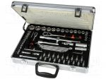 "Goldtool GTK-288 / Set: keys; Pcs:71; Package: case; 1/4"" slot bit:4 mm,5"