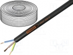 Helukabel 37002T / Wire; H07RN-F; stranded; Cu; 1x2,5mm2; rubber; black;