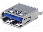 Adam tech USB-A3-S-VT-CS1-15-HT / Socket; USB A; THT; straight; V: USB 3.