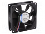 Ebm-papst 8412 NME / Fan: DC; axial; 80x80x25mm; 58m3/h; 27dBA; ball bear