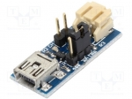 Microbot MR010-001.1 / Module: Li-Po/Li-Ion charger; 5VDC; USB B mini