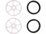 Pololu WHEEL W/INSERTS FOR 3MM AND 4MM SHAFTS / Wheel; white; Shaft: smoo