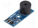 Okystar OKY3151 / Module: signalling device; buzzer; 3.3÷5VDC; 33x13mm