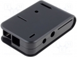 Hammond 1593HAMPIBK / Enclosure: for computer; Raspberry Pi; ABS; black;