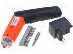 Goldtool GTT-255 / Electric screwdriver; battery; 200rpm; 4.8V; Charge ti